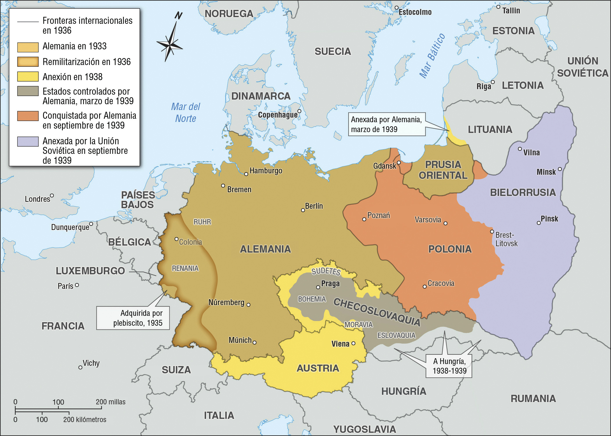 Map Of Germany 1938.The Growth Of Nazi Germany Facing History And Ourselves