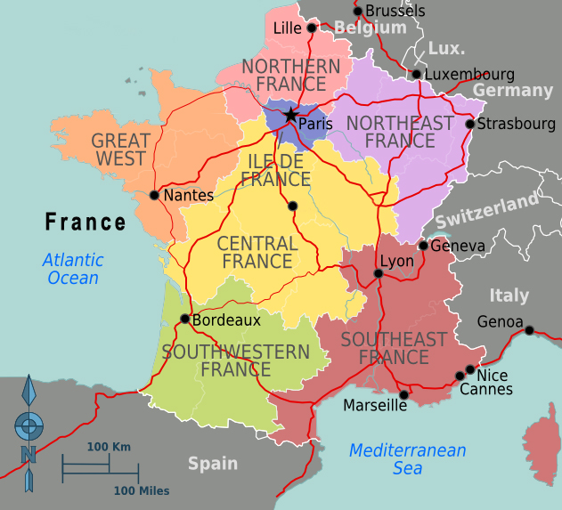 West Of France Map.Map Of France Facing History And Ourselves