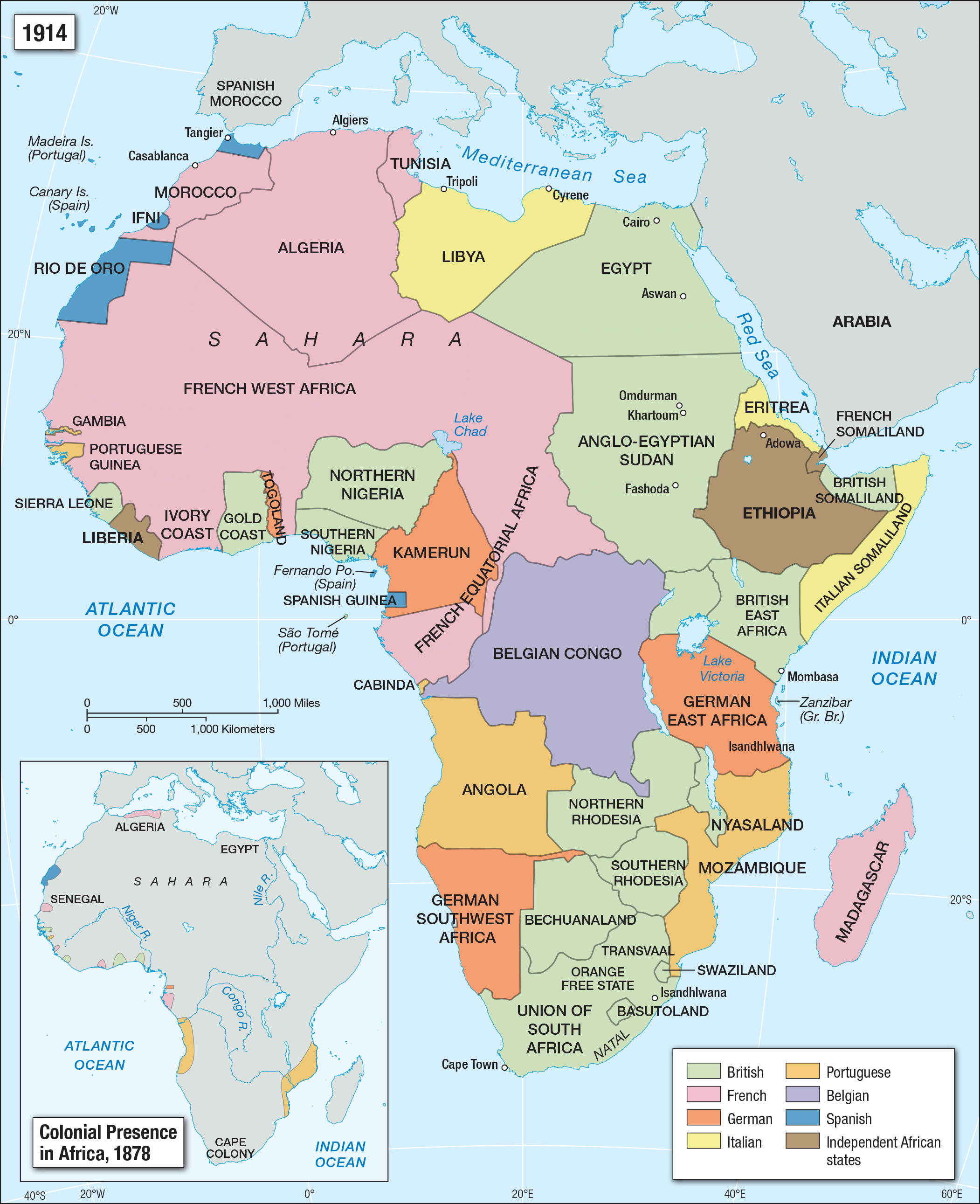 Map Of Africa Map.Colonial Presence In Africa Facing History And Ourselves