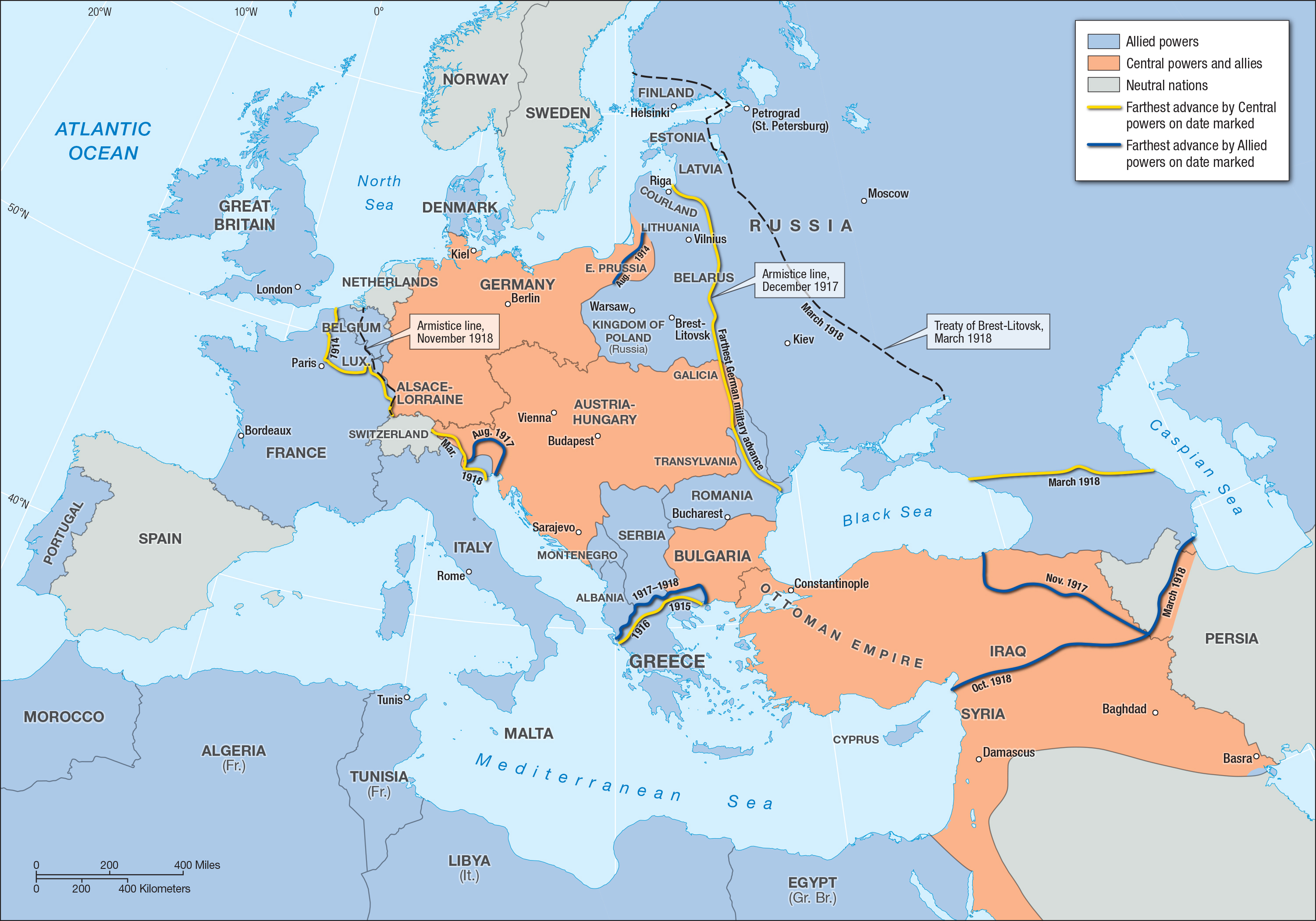 World War I In Europe And The Middle East Facing History And Ourselves