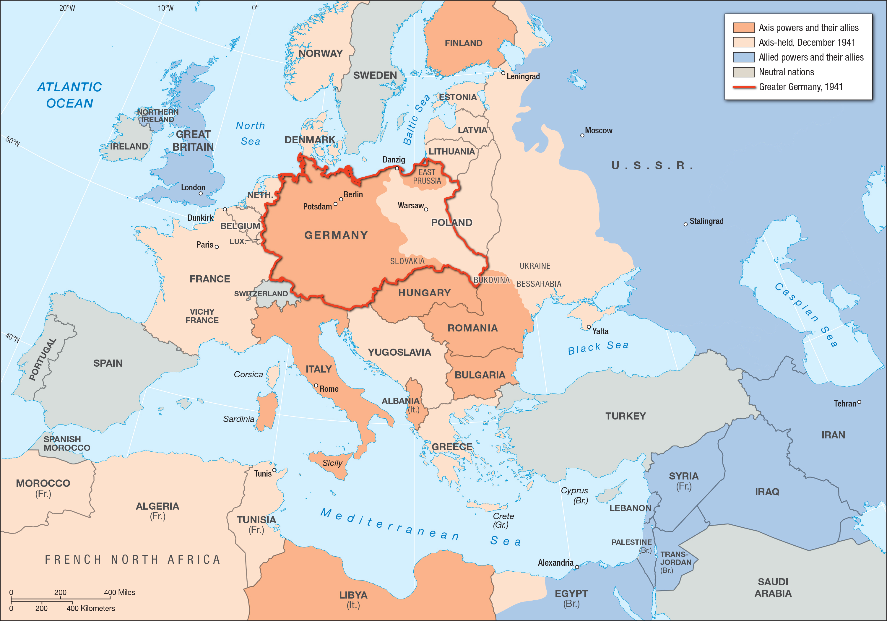 an analysis of allied powers and germany The allies could not have enough ships to invade europe before spring of 1942, so they planned to bomb germany until then and send war materials to the soviet armies fighting germany in russia.