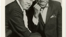 Portrait of Samuel David Moore and Dave Prater, a soul and R&B duo.