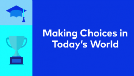 Banner for 2017 Student Essay Scholarship Contest on Making Choices in Today's World