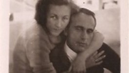 Holocaust survivor Ava Kadishson Schieber and her first husband, Yitzek Kadishson, in the 1950s.