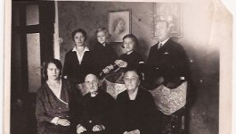 Photograph of Holocaust survivor Ava Kadishson Schieber with her family circa 1937.