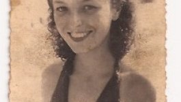 Photograph of Suzanne, the sister of Holocaust survivor Ava Kadishson Schieber, at age 15 or 16.