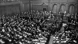 German parliament in session.