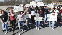 Gun Violence Student Activist Protest Walkout After Parkland Florida School Shooting 2018