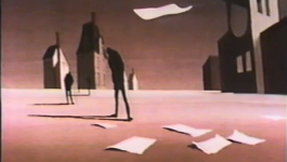 The townspeople stand in the town after the Hangman takes more victims.