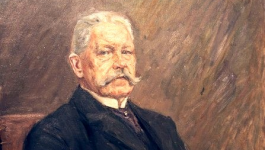 seated portrait of Paul von Hindenburg