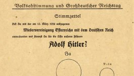 Voting ballot with German writing.