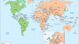 World map highlighting in green which countries recognize birthright citizenship.