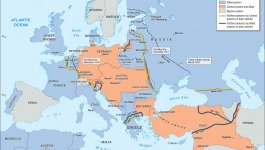 Map showing major alliances and advances of the Central and Allied powers during World War I.