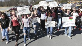 Images of student protest after Parkland