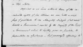 Photograph of a handwritten letter from Moses Seixas to president George Washington dated 1790.