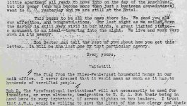A typewritten letter from Waitstill Sharp to friends dated 1939.
