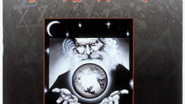 Cover of The Protocols of the Elders of Zion published in Syria. Depicts a man with a beard holding the world in his hands.