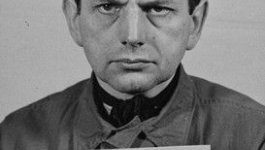 Mug shot of Otto Ohlendorff who was later convicted and executed for war crimes.