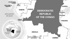 A map of the Democratic Republic of the Congo