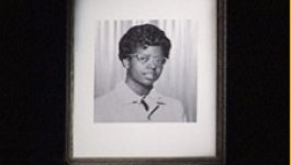 A formal portrait of school-aged Elizabeth Eckford, circa 1957.