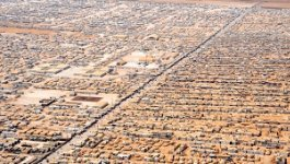 Aerial view of Za'atri Refugee camp.