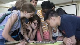 Students practice empathy through game play.