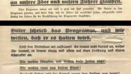 Two flyers with German text.