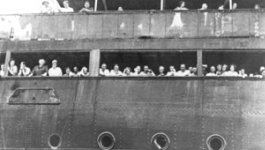 refugees on a large boat