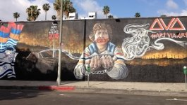 Armenian Genocide mural by Arutyun Gozukuchikyan also known as ArtViaArt in Los Angeles.