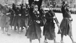 Nazi soldiers marching. Teaser image for reading on the Rise of the Nazis