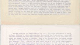 A three-page typewritten letter