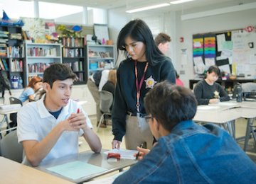 Students engage in discussion.