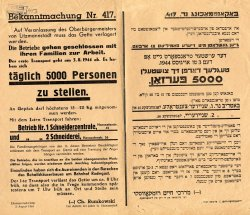 Announcement ordering Jews to report for the final liquidation of the Łódź ghetto.