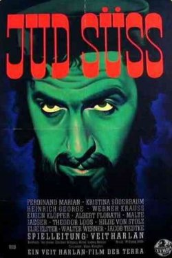 Theatrical poster for the antisemitic propaganda film Jud Süss.