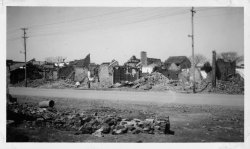 Several destroyed buildings in Nanjing damaged in the war, circa 1938.
