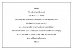Student Bio Poem Example Facing History And Ourselves When & how to write poetry. student bio poem example facing