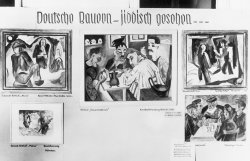 An exhibit featuring five modern style paintings by German Expressionist artists Ernst Ludwig Kirchner, Max Pechstein, and Karl Schmidt-Rottluff.