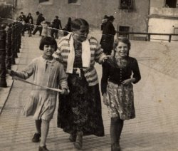 Sinti, or gypsy, woman and two children, circa 1930s.