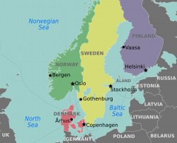 Map Of Denmark And Sweden Facing History And Ourselves