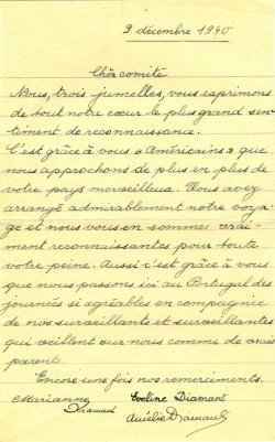 A handwritten note in French dated 1940.