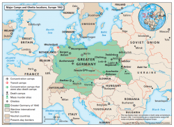 Major Camps And Ghetto Locations Europe 1942 Facing History And