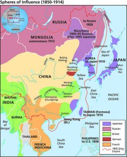 Map Of China And Southeast Asia.The Nanjing Atrocities Map Spheres Of Influence 1850 1914