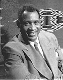 Paul Robeson, an African American actor and singer, poses for a photograph.