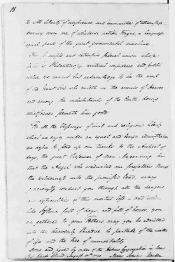 Photograph of a handwritten letter from Moses Seixas to president George Washington dated 1790. Second page of letter.