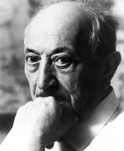 A portrait of Simon Wiesenthal