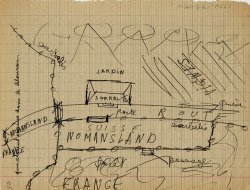 Sketch of the border between France and Switzerland to plan escape from France. Drawn by Petr Feigl.