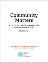 Community Matters: A Facing History and Ourselves Approach to Advisory (pilot version)
