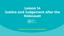 Justice and Judgement after the Holocaust (UK)