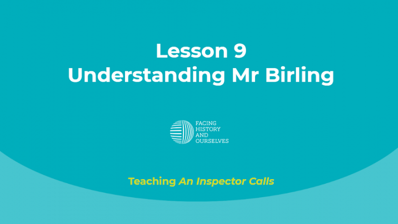 Understanding Mr Birling