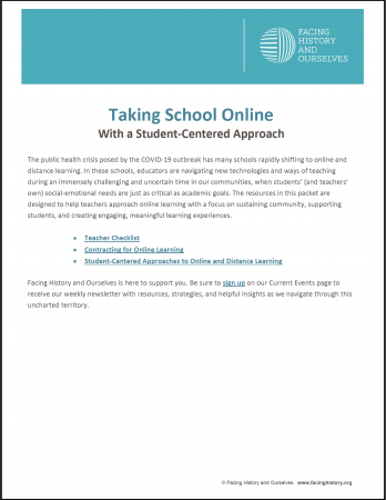 Taking School Online With a Student-Centered Approach